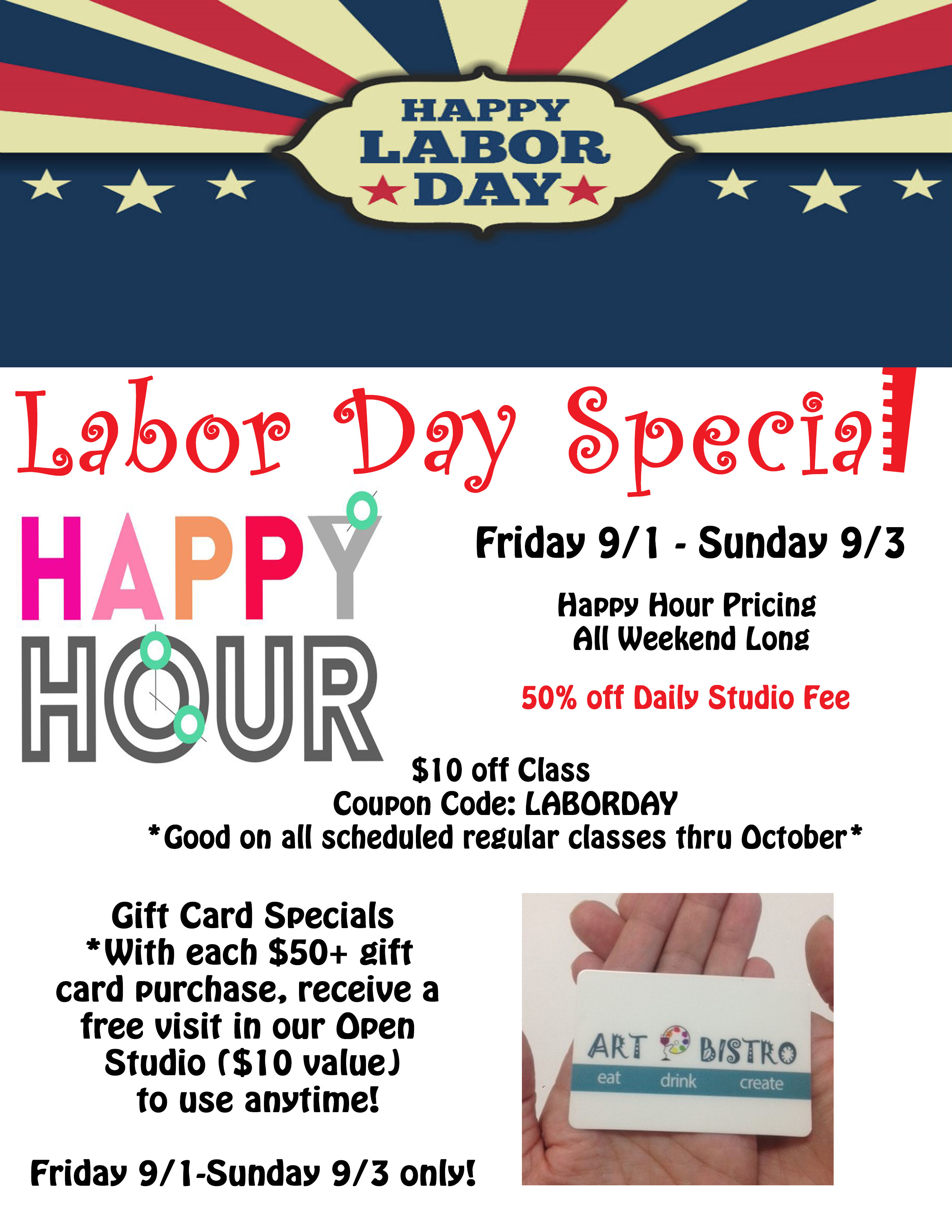 Labor Day Weekend Specials