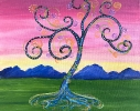 Whimsical Swirling Tree