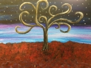 Nighttime Whimsical Tree