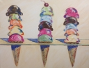 3 Cones - Tribute to Wayne Thiebaud