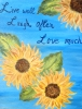 Sunflowers with Quote