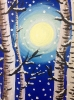 Kids-Snowy Birches at Night