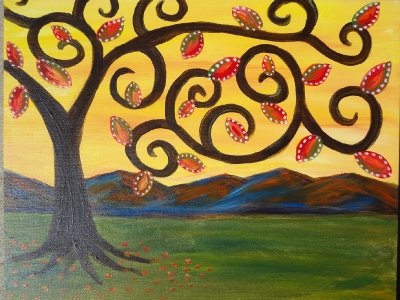 Whimsical Fall Tree