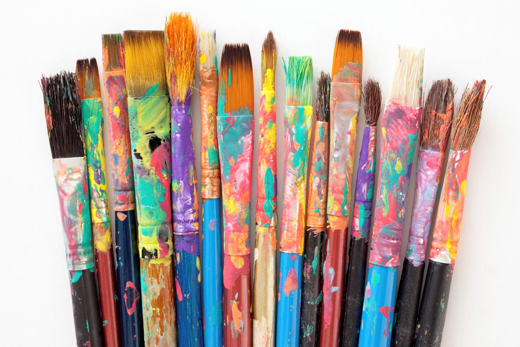Paint brushes for Artist canvas paint color