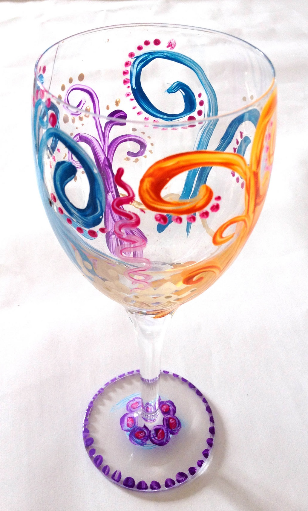 Decorate Wine Glass