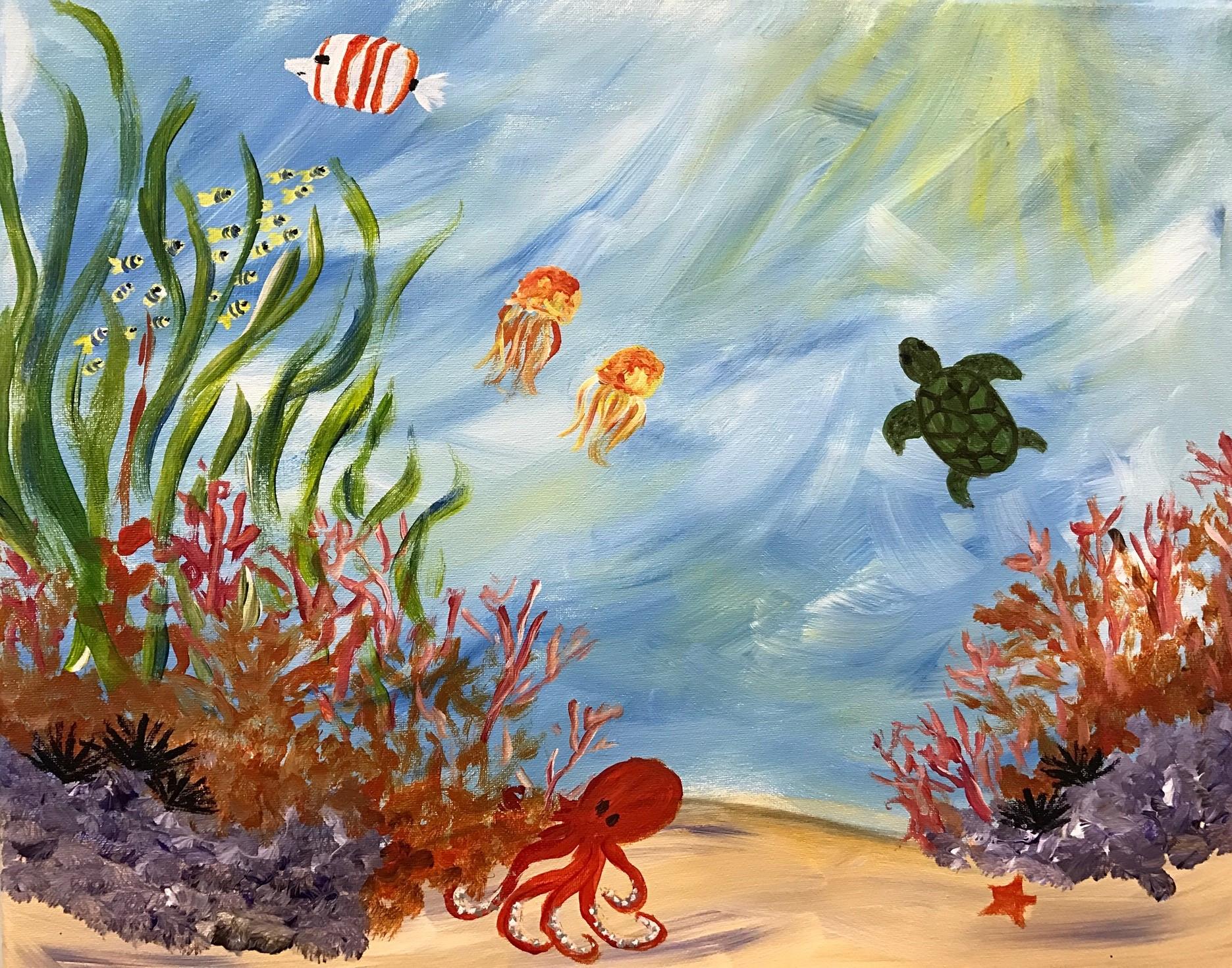 Underwater Painting Watercolor